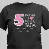 Personalized T-Shirt - Reasons I Love Being A Grandma (Black)
