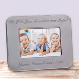 Beautiful silver frame can be personalized with your special message for any occasion.
