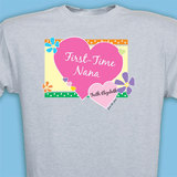 Personalized T-Shirt for First-Time Grandma (Gray)