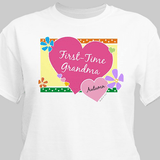 Personalized T-Shirt for First-Time Grandma (White)