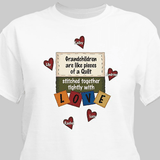 Personalized T-Shirt, Stitched Together With Love - White