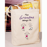 Personalized Canvas Tote, This Grandma Belongs To