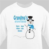 Grandma's Snowflakes ... Personalized Sweatshirt