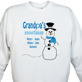 Grandpa's Snowflakes ... Personalized Sweatshirt with Grandpa's Snowflakes