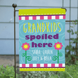 Personalized garden flag for Grandpa - Grandkids spoiled here