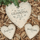 Personalized Garden Stone, We Love You With All Our Hearts Grandma