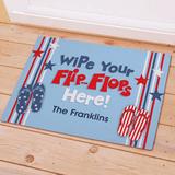 Personalized Doormat - Wipe Your Flip-Flops Here!