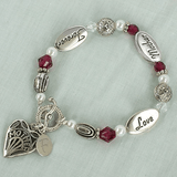 Personalized bracelet for Mother, Love, Forever.