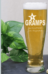 Engraved Glass for your #1 Grandpa