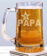 Engraved Sports Glass Mug for your #1 Grandpa