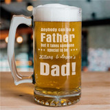Dad Beer Mug engraved with kids names.