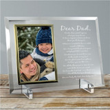 Beautiful glass frame engraved with poem and personalized just for Grandpa.