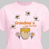 Personalized T-Shirt, Grandma's Little Honeys (Pink)