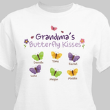 Personalized Butterfly Kisses T-Shirt...just for Grandma