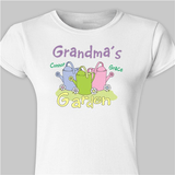 Personalized Grandma's Garden Fitted T-Shirt