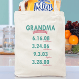"Personalized Canvas ""Established"" Tote for Grandma"
