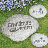 Garden stones for grandma's garden.