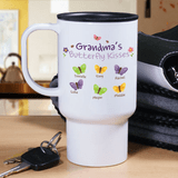 Personalized Butterfly Kisses Travel Mug is special just for Grandma.