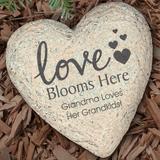 Personalized Garden Stone, Grandma's Love Blooms Here