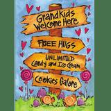 Grandkids Welcome Here Garden Flag