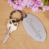 Personalized Silver Key Chain...just for Grandpa!