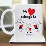 Personalized Mug for Grandma and Grandpa - My Heart Belongs To...