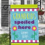 Personalized Grandma Flag, Grandkids Spoiled Here!