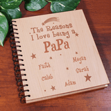 Personalized Reasons I Love Being a Grandpa Brag Book Photo Album