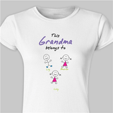 Personalized Fitted T-Shirt...This Grandma Belongs To