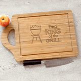 Personalized Cutting Board for Grandpa- King of the Grill