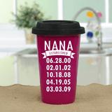 Personalized Travel Mug - When was Grandma Established?