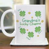 Personalized Grandma's Lucky Charms Cup for your Irish Grandma.