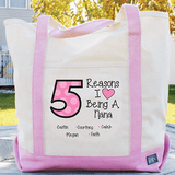 Personalized Tote - Reasons I Love Being a Grandma