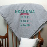 Personalized Stadium Blanket for Grandma - When Established