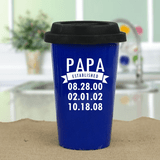 Personalized Travel Mug - When was Grandpa Established?