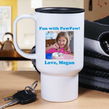 Personalized Photo Travel Mug for Grandpa.