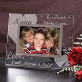 Beautiful glass frame, Our Hearts Belong to You Grandma!