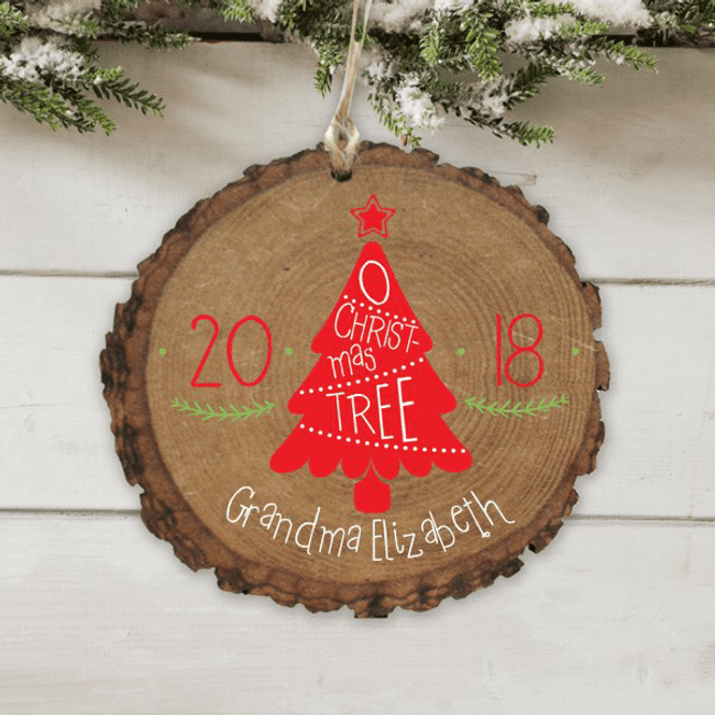 Personalized Christmas Tree Ornament for Grandma