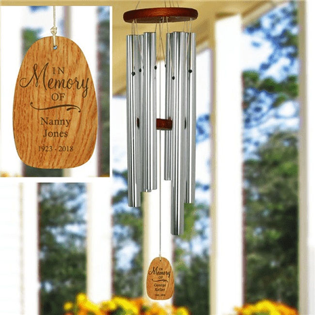Personalized Memorial Wind Chimes for a Beloved Grandma