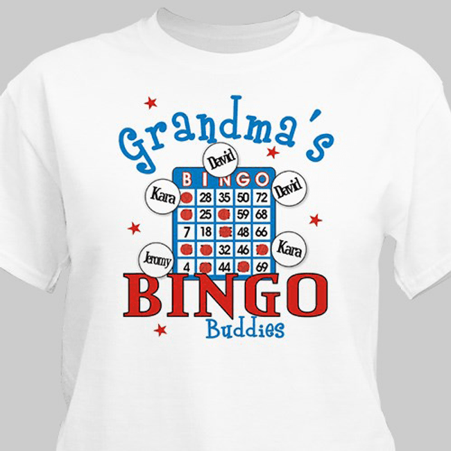 Personalized T-Shirt for a Bingo Playing Grandma!