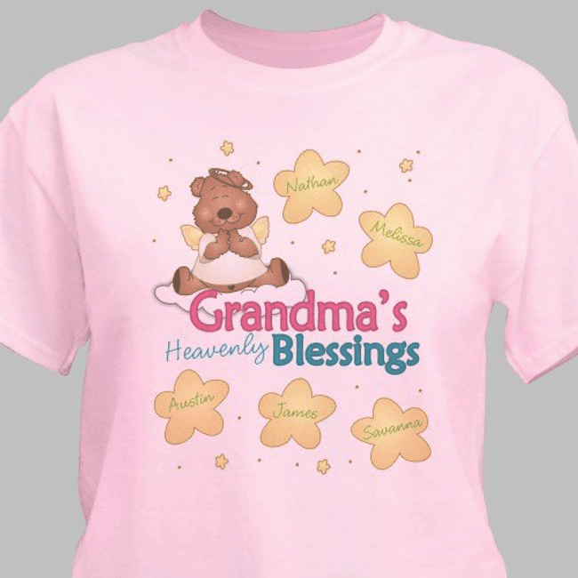 Personalized Heavenly Blessings T-Shirt for Grandma!