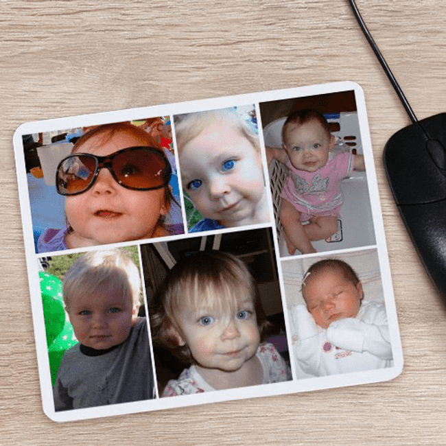 Six Photo Mouse Pad for Grandma or Grandpa