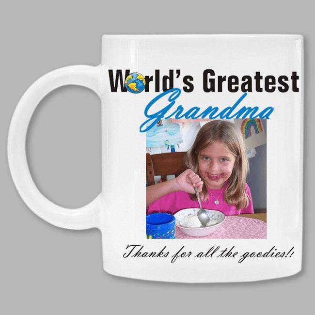 Personalized Photo Mug for the World's Greatest Grandma.