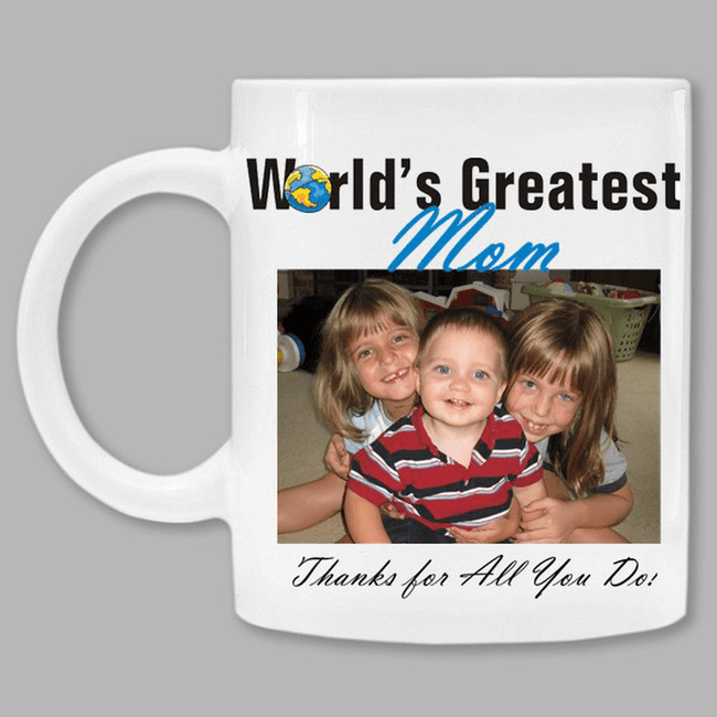 Personalized Photo Mug for the World's Greatest MOM
