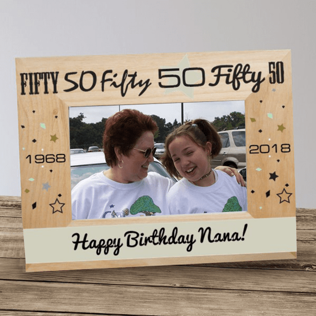 Personalized Grandma Frame Celebrating A Special Birthday