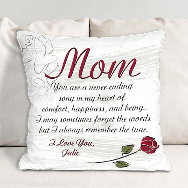 Personalized Throw Pillow - Never Ending Song