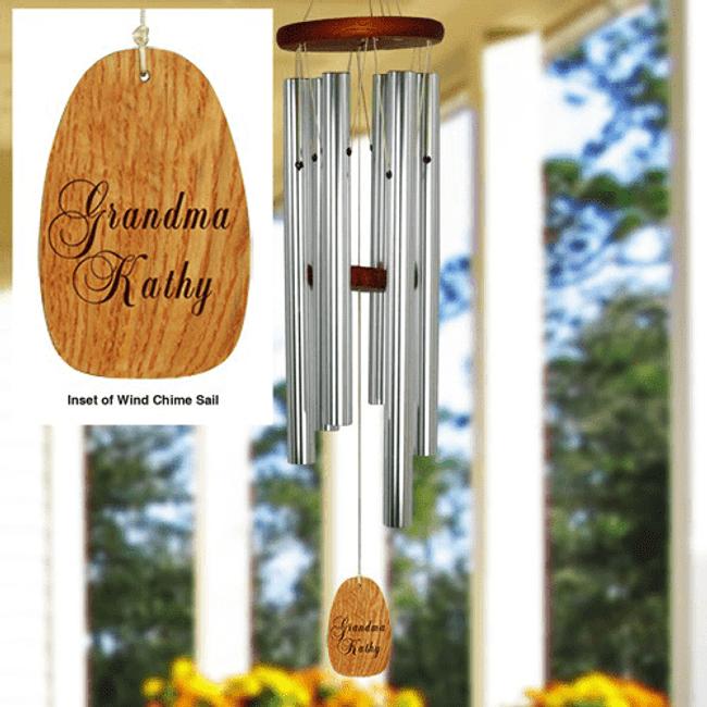 Beautiful Wind Chimes Personalized for Grandma