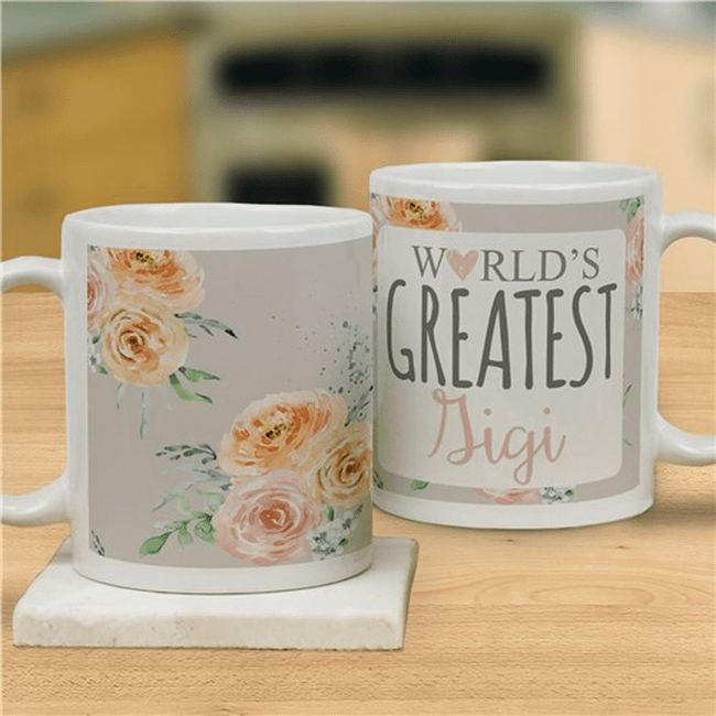 "Personalized ""World's Greatest"" Mug for the Best Grandma."
