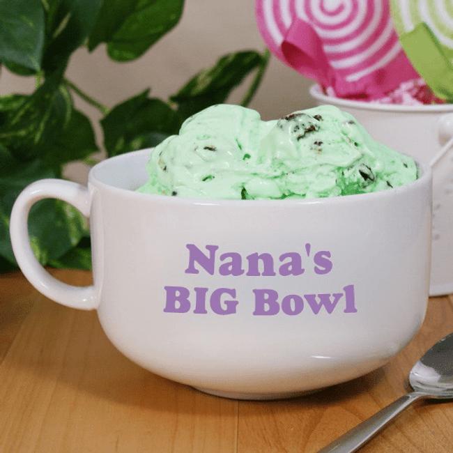 "Personalized ""Big Bowl"" for Grandma"