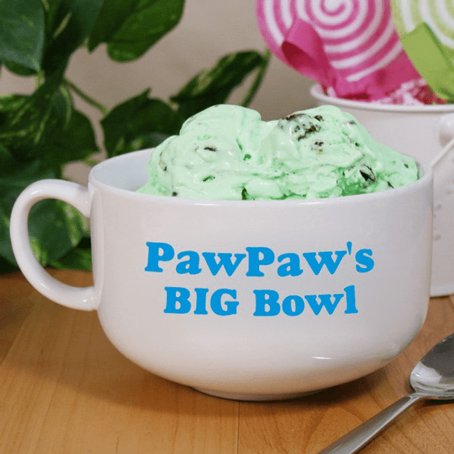 "Personalized Personalized ""Big Bowl"" for GrandPa"